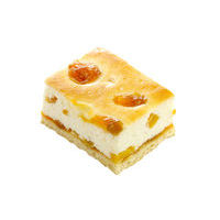 159. Curd cake with apricot and peach